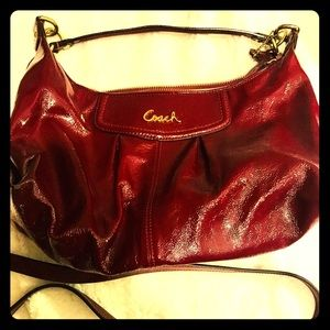 Coach purse / handbag burgundy red color